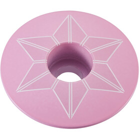 Supacaz Star Capz Ahead Cap Powder-coated giro pink